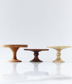 Wooden Cake Stands - Perfect for the patio  Herriott Grace — #anthropologie #pintowin