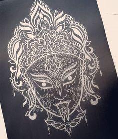 """WEBSTA @ rebecca_zombiesmania - """"Anteprima"""" nuovo logo #tattoo #tattooartist #sketch #tattoosketch #logo #tattooflash #flash #draw #drawing #kali #ornamental #mandala Kali Yantra, Kali Shiva, Kali Ma, Kali Goddess, Black Goddess, Beautiful Tattoos, Cool Tattoos, Kali Tattoo, Casual Art"""