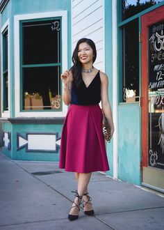 Jewel Toned Holiday Outfit - Skirt The Rules | Life & Style in NYC