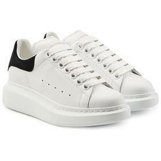 565814a49776 Alexander McQueen Leather Sneakers Chaussure Basket, Mode, Chaussures  Chunky, Les Chaussures À Plate