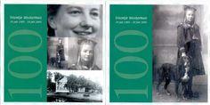100 jr met oude zwart wit foto's