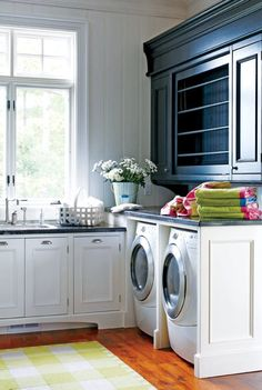 Laundry room cabinets.
