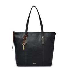 Fossil Jenna Tote Shb1491001 ($99) ❤ liked on Polyvore featuring bags, handbags, tote bags, leather tote, leather shopper tote, vintage leather purses, shopping tote bags and genuine leather tote