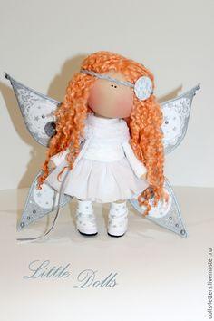 """Купить Текстильная кукла """"Бабочка"""" - белый, кукла ручной работы, купить куклу, тильда кукла"""