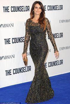 Gothic glamour: Penelope Cruz pulled out all the sartorial stops at a special screening of her new movie, The Counselor, at London's Odeon W...