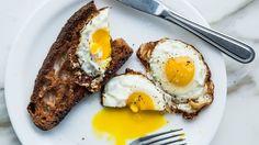 Fried Bread and Eggs Breakfast Idea