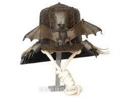 Saiga Kabuto: Helmet with bat decoration Japanese Mask, Japanese Warrior, Japanese Sword, Samurai Helmet, Samurai Armor, Arm Armor, Sci Fi Armor, Fantasy Armor, Japan Art