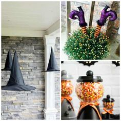 10 DIY Halloween Decorations to Die For Do you love decorating for Halloween? We are sharing some incredible creative DIY Halloween Decorations you will be dying to share this year. Diy Halloween Games, Cheap Halloween Decorations, Halloween Party Decor, Vintage Halloween, Halloween Supplies, Paper Halloween, Yard Decorations, Outdoor Halloween, Creepy Halloween