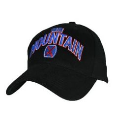 The 10th Mountain Division 3D Text Hat is officially licensed by the U.S. Army and royalties paid go to the morale, welfare and recreation funds of the US Military. This 100% cotton baseball cap features the unit insignia on the front along with bold 3d embroidery. The back and sides of the hat are blank.