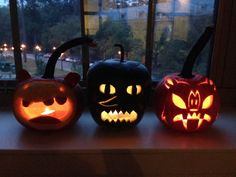 Finn, Lemongrab and Marcy pumpkins! So doing this next year! Adventure Time