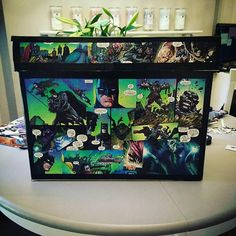 Made to order comic book storage box, can hold approximately 250 comics.  The box is hand decorated with your favourite comic book characters, and the finished product comes varnished with a clear sealant for durability.  Internal Box Dimensions: 43cm long x 19.7 cm wide x 28.5cm deep.  Choose either DC or Marvel for random panels from your favourite comics!! Select custom and write us a message on check out with what you want on your box!  All of our boxes are unique and individually made…