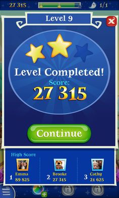 Bubble Witch 2 by King - Results You Win Screen  - Match 3 Game - iOS Game - Android Game - UI - Game Interface - Game HUD - Game Art