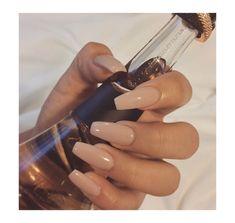 ☾Original Rebel Fleur Rihanna Perfume. Nude Nails