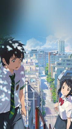 Wallpapers de Your Name (Kimi no Na wa) para celular! Anime Summer, Summer Art, Art And Illustration, Kimi No Na Wa Wallpaper, Iphone 6 Plus Wallpaper, Art Background, Manga Drawing, Halloween Art, Animes Wallpapers