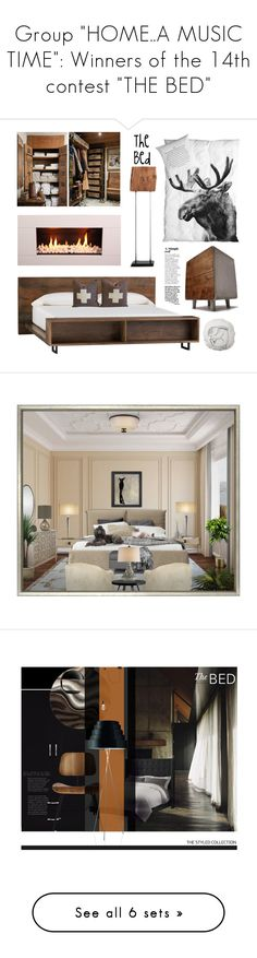 """""""Group """"HOME..A MUSIC TIME"""": Winners of the 14th contest """"THE BED"""""""" by nicolevalents ❤ liked on Polyvore featuring interior, interiors, interior design, home, home decor, interior decorating, GAS Jeans, Crate and Barrel, By Nord and Bloomingville"""