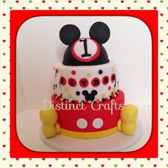 Mickey Mouse Fake Cake Topper Mickey Mouse by Distinctcrafts