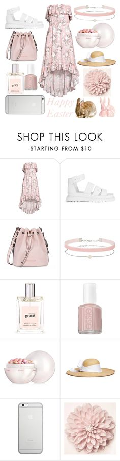 """Happy Easter"" by amber-lanehart ❤ liked on Polyvore featuring Dr. Martens, Armani Jeans, Miss Selfridge, philosophy, Essie, Guerlain, Sensi Studio, Native Union and easter2017"
