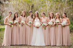 Ashley and Brian | Tallahassee Wedding Photographer | Woodland Fields Photography | Goodwood Museum Jcrew wedding dress | Blush pink bridesmaids dresses