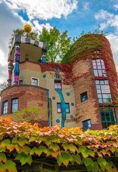 Hundertwasserhaus Bad Soden near Frankfurt Germany  architect: Friedensreich Hundertwasser  pho. #Relax more with healing sounds: