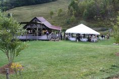barn, tent, and stage/dance floor..all rustic and all at whitefencefarmrentals.com