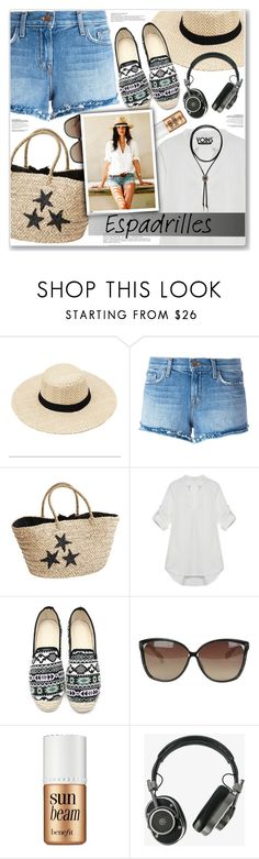 """LOVE YOINS"" by nanawidia ❤ liked on Polyvore featuring J Brand, Linda Farrow, Benefit and Master & Dynamic"