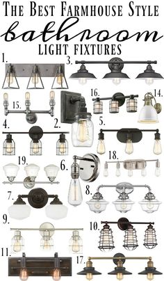 Farmhouse Style Bathroom Light Fixtures |