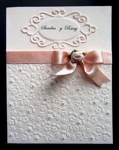 wedding card, spellbinders fancy tag die  CAS elegant