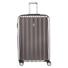 Amazon.com | Delsey Luggage Helium Aero, Large Checked Luggage, Hard Case Spinner Suitcase, Titanium | Suitcases