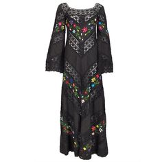 Bohemian peasant dress 1960s - I would wear it today!