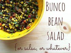 Joy's Hope: Bunco bean salad.