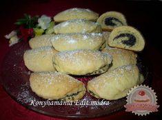 Mákos krémes Hungarian Recipes, Pretzel Bites, Muffin, Bread, Cookies, Breakfast, Poppy, Food, Crack Crackers