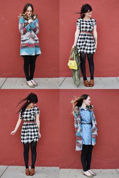 Checkered dress. <3