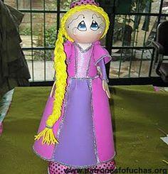 Patrones fofuchas - Rapunzel