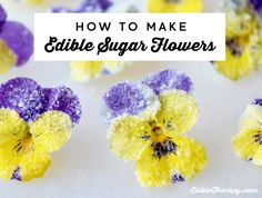 Learn how to make sugar flowers in just 5 steps! No expensive ingredients. See how to do it with step by step pictures inside.