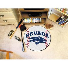Nevada Reno Wolf Pack NCAA Baseball Round Floor Mat (29)