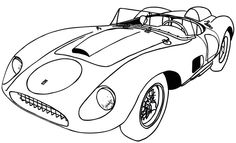 Free ferrari logo italian sports car brand coloring and for Ferrari logo coloring pages