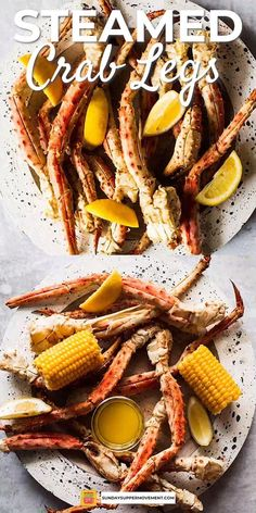 Everyone at the table will love these steamed crab legs! It's a rich and decadent recipe, yet simple Dungeness Crab Legs, Dungeness Crab Recipes, Fun Easy Recipes, Supper Recipes, Easy Meals, Bbq Meals, Steamed Crab Legs, Steamed Crabs, Seafood Boil Recipes