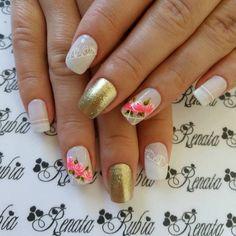 79 Fotos de Unhas com Rosas Fall Nail Art, Make Up, Nails, Beauty, 98, Marshmallows, Triangles, Roses, Nail Art Designs