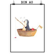 Poster DIN A0 Pinguin Angelboot aus Papier 160 Gramm  weiß - Das Original von Mr. & Mrs. Panda.  Jedes wunderschöne Poster aus dem Hause Mr. & Mrs. Panda ist mit Liebe handgezeichnet und entworfen. Wir liefern es sicher und schnell im Format DIN A0 zu dir nach Hause. Das Format ist 841 mm x 1189 mm.    Über unser Motiv Pinguin Angelboot  ##MOTIVES_DESCRIPTION##    Verwendete Materialien  Es handelt sich um sehr hochwertiges und edles Papier in der Stärke 160 Gramm    Über Mr. & Mrs. Panda…
