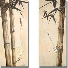 Tonal changes add to the Zen-like effect in this two-piece set. This smart presentation can be hung together or separately. This artist-grade canvas has natural colored edges and is stretched using a