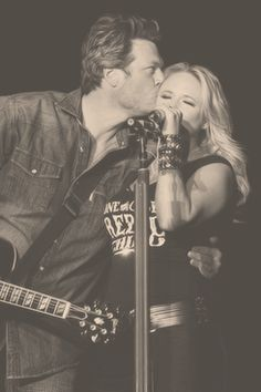Blake Shelton & Miranda Lambert...love watching them:)-D