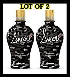 LOT of 2 Supre Snooki Ultra Dark Black Bronzer Tanning Lotion 12 Oz by Supre. $51.99. Ultra Dark Black Bronzer. Bronzer Ultra Dark Black Bronzer Unleash your inner Guido/Guidette with Snooki's Ultra Dark Black Bronzer. This completely blinged out black bronzer boosts up the tanning process with fierce golden color for the deepest darkest tan while vitamins and skin conditioning extracts leave your skin feeling amazingly soft, smooth and ready to party. Black Bronzing Blen...