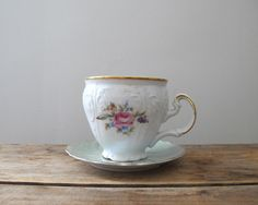 dainty antique teacup & saucer >> via LittleKittenVintage on Etsy