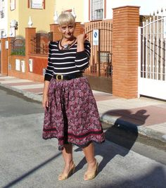 Jumper- Charity Shop- England                                                Patent leather belt- Flea market                                              Wool flower skirt- Berlin flea market