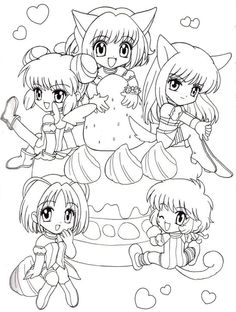 tokyo mew mew coloring pages Google Search Anime coloring pages