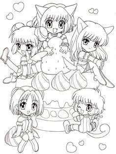 Shugo chara anime coloring pages for kids printable free