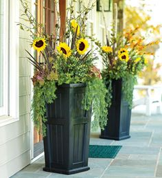 Tall Self-Watering Planter - I am going to see if I can get my hubby to make this.