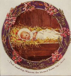 Jesus in the Manger Artwork by Cicely Mary Barker