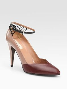 Valentino Two-Tone Runway Pumps for the Tuesday | Manolo's Shoe Blog