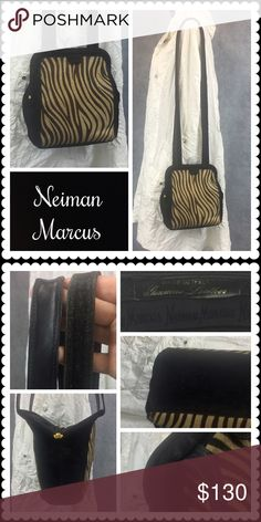 """👜 VTG Neiman Marcus Ponyhair Bag 👜 Neiman Marcus Ponyhair Bag 👜 Ponyhair and suede bag by Neiman Marcus, interior silk has logo. One inner zip pocket and long straps with leather underneath and suede on s is a vintage bag so there is very minor wear on the """"mouth"""" of the bag. This is normal and does not diminish the quality or value of the bag. A tear in the lining has been repaired. Price reflects this. Please feel free to ask for more photos. Vintage Bags Shoulder Bags"""